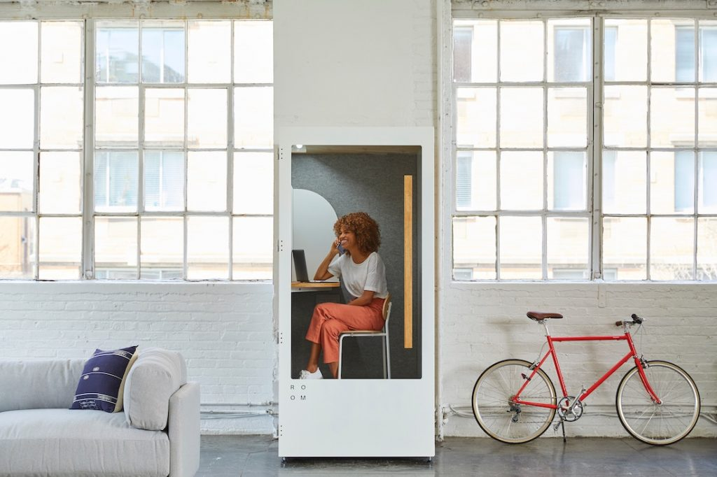 Una cabina para hacer reuniones o concentrarte. Hay una startup que pretende meterte aquí.